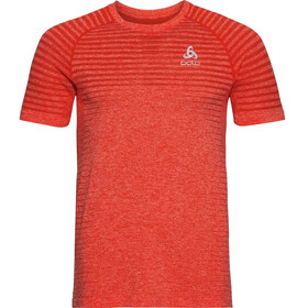 Odlo Seamless Element Rundhals-Kurzarmshirt Herren orange.com melange